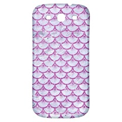 Scales3 White Marble & Purple Glitter (r) Samsung Galaxy S3 S Iii Classic Hardshell Back Case by trendistuff