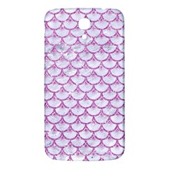 Scales3 White Marble & Purple Glitter (r) Samsung Galaxy Mega I9200 Hardshell Back Case by trendistuff
