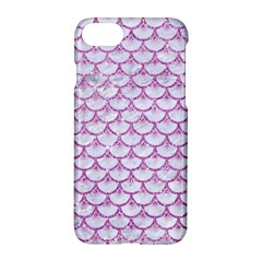 Scales3 White Marble & Purple Glitter (r) Apple Iphone 8 Hardshell Case by trendistuff