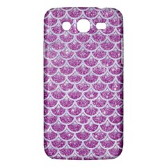 Scales3 White Marble & Purple Glitter Samsung Galaxy Mega 5 8 I9152 Hardshell Case  by trendistuff