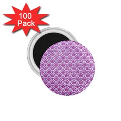 Scales2 White Marble & Purple Glitter 1 75  Magnets (100 Pack)  by trendistuff