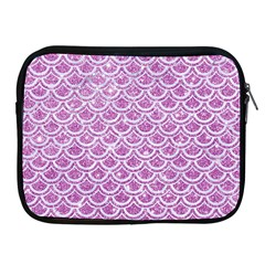 Scales2 White Marble & Purple Glitter Apple Ipad 2/3/4 Zipper Cases by trendistuff