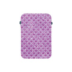 Scales2 White Marble & Purple Glitter Apple Ipad Mini Protective Soft Cases by trendistuff