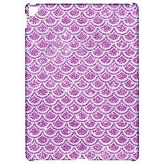 Scales2 White Marble & Purple Glitter Apple Ipad Pro 12 9   Hardshell Case by trendistuff