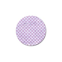 Scales1 White Marble & Purple Glitter (r) Golf Ball Marker (4 Pack) by trendistuff
