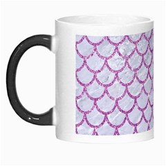 Scales1 White Marble & Purple Glitter (r) Morph Mugs by trendistuff