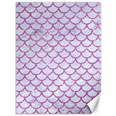 Scales1 White Marble & Purple Glitter (r) Canvas 36  X 48   by trendistuff