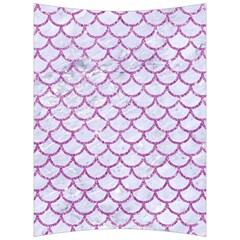 Scales1 White Marble & Purple Glitter (r) Back Support Cushion by trendistuff