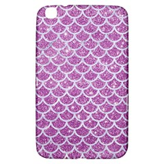 Scales1 White Marble & Purple Glitter Samsung Galaxy Tab 3 (8 ) T3100 Hardshell Case  by trendistuff