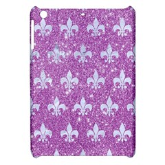 Royal1 White Marble & Purple Glitter (r) Apple Ipad Mini Hardshell Case by trendistuff