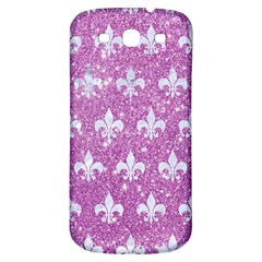 Royal1 White Marble & Purple Glitter (r) Samsung Galaxy S3 S Iii Classic Hardshell Back Case by trendistuff