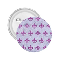 Royal1 White Marble & Purple Glitter 2 25  Buttons by trendistuff