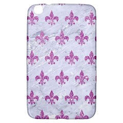 Royal1 White Marble & Purple Glitter Samsung Galaxy Tab 3 (8 ) T3100 Hardshell Case  by trendistuff