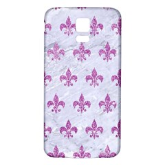 Royal1 White Marble & Purple Glitter Samsung Galaxy S5 Back Case (white) by trendistuff