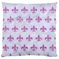 Royal1 White Marble & Purple Glitter Standard Flano Cushion Case (one Side) by trendistuff