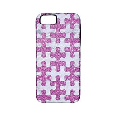 Puzzle1 White Marble & Purple Glitter Apple Iphone 5 Classic Hardshell Case (pc+silicone) by trendistuff