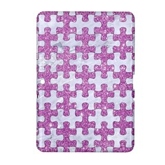 Puzzle1 White Marble & Purple Glitter Samsung Galaxy Tab 2 (10 1 ) P5100 Hardshell Case  by trendistuff