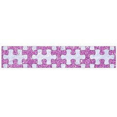 Puzzle1 White Marble & Purple Glitter Large Flano Scarf  by trendistuff