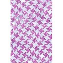 Houndstooth2 White Marble & Purple Glitter 5 5  X 8 5  Notebooks by trendistuff