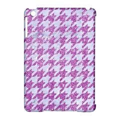 Houndstooth1 White Marble & Purple Glitter Apple Ipad Mini Hardshell Case (compatible With Smart Cover) by trendistuff