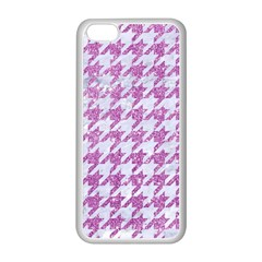 Houndstooth1 White Marble & Purple Glitter Apple Iphone 5c Seamless Case (white) by trendistuff