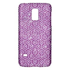 Hexagon1 White Marble & Purple Glitter Galaxy S5 Mini by trendistuff