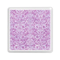 Damask2 White Marble & Purple Glitter Memory Card Reader (square)  by trendistuff