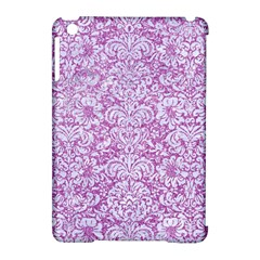Damask2 White Marble & Purple Glitter Apple Ipad Mini Hardshell Case (compatible With Smart Cover) by trendistuff