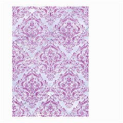 Damask1 White Marble & Purple Glitter (r) Small Garden Flag (two Sides) by trendistuff