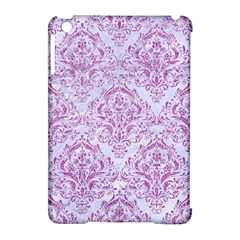 Damask1 White Marble & Purple Glitter (r) Apple Ipad Mini Hardshell Case (compatible With Smart Cover) by trendistuff
