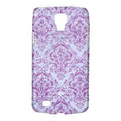 Damask1 White Marble & Purple Glitter (r) Galaxy S4 Active by trendistuff