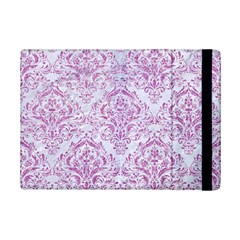 Damask1 White Marble & Purple Glitter (r) Ipad Mini 2 Flip Cases by trendistuff