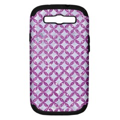 Circles3 White Marble & Purple Glitter (r) Samsung Galaxy S Iii Hardshell Case (pc+silicone) by trendistuff