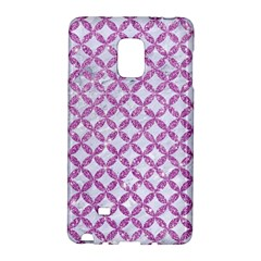 Circles3 White Marble & Purple Glitter (r) Galaxy Note Edge by trendistuff