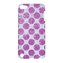 Circles2 White Marble & Purple Glitter (r) Apple Ipod Touch 5 Hardshell Case