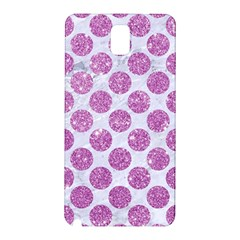 Circles2 White Marble & Purple Glitter (r) Samsung Galaxy Note 3 N9005 Hardshell Back Case by trendistuff