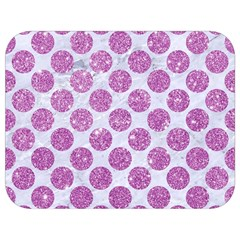 Circles2 White Marble & Purple Glitter (r) Full Print Lunch Bag by trendistuff