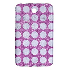 Circles1 White Marble & Purple Glitter Samsung Galaxy Tab 3 (7 ) P3200 Hardshell Case  by trendistuff