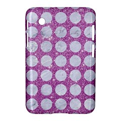 Circles1 White Marble & Purple Glitter Samsung Galaxy Tab 2 (7 ) P3100 Hardshell Case  by trendistuff