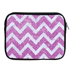 Chevron9 White Marble & Purple Glitter Apple Ipad 2/3/4 Zipper Cases by trendistuff