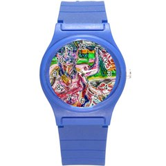Budha Denied The Shine Of The World Round Plastic Sport Watch (s) by bestdesignintheworld