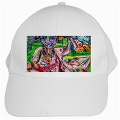 Budha Denied The Shine Of The World White Cap by bestdesignintheworld