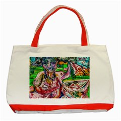 Budha Denied The Shine Of The World Classic Tote Bag (red) by bestdesignintheworld