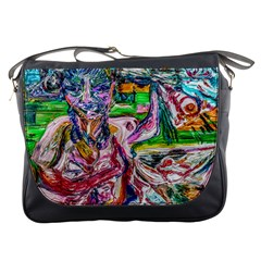 Budha Denied The Shine Of The World Messenger Bags by bestdesignintheworld