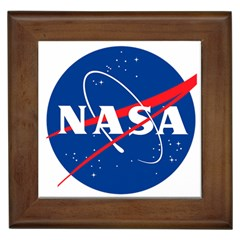 Nasa Logo Framed Tiles