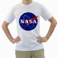 Nasa Logo Men s T Shirt (white) (two Sided) by Samandel