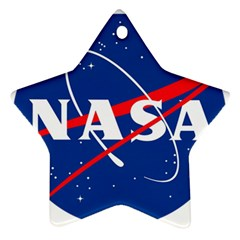Nasa Logo Star Ornament (two Sides)