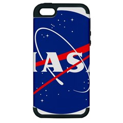 Nasa Logo Apple Iphone 5 Hardshell Case (pc+silicone) by Samandel