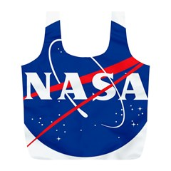 Nasa Logo Full Print Recycle Bags (l)  by Samandel