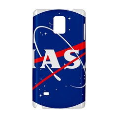 Nasa Logo Samsung Galaxy Note 4 Hardshell Case by Samandel